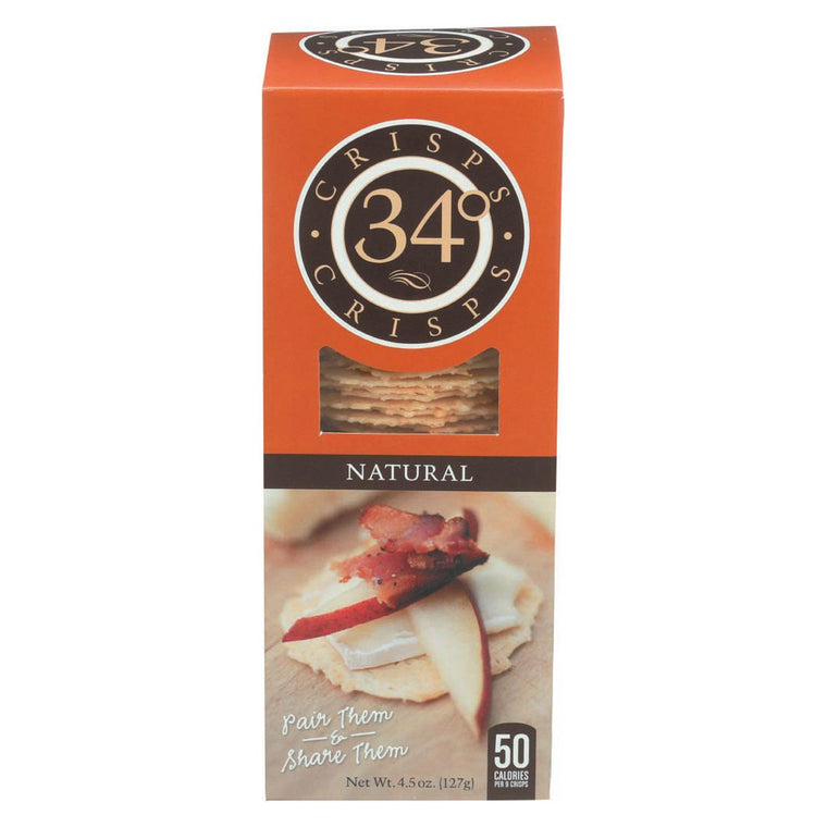 34 Degrees Crisps - Natural - Case Of 18 - 4.5 Oz