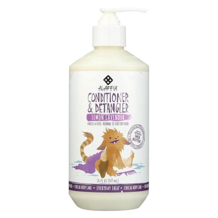 Alaffia - Everyday Conditioner And Detangler - Lemon Lavender - 16 Fl Oz.