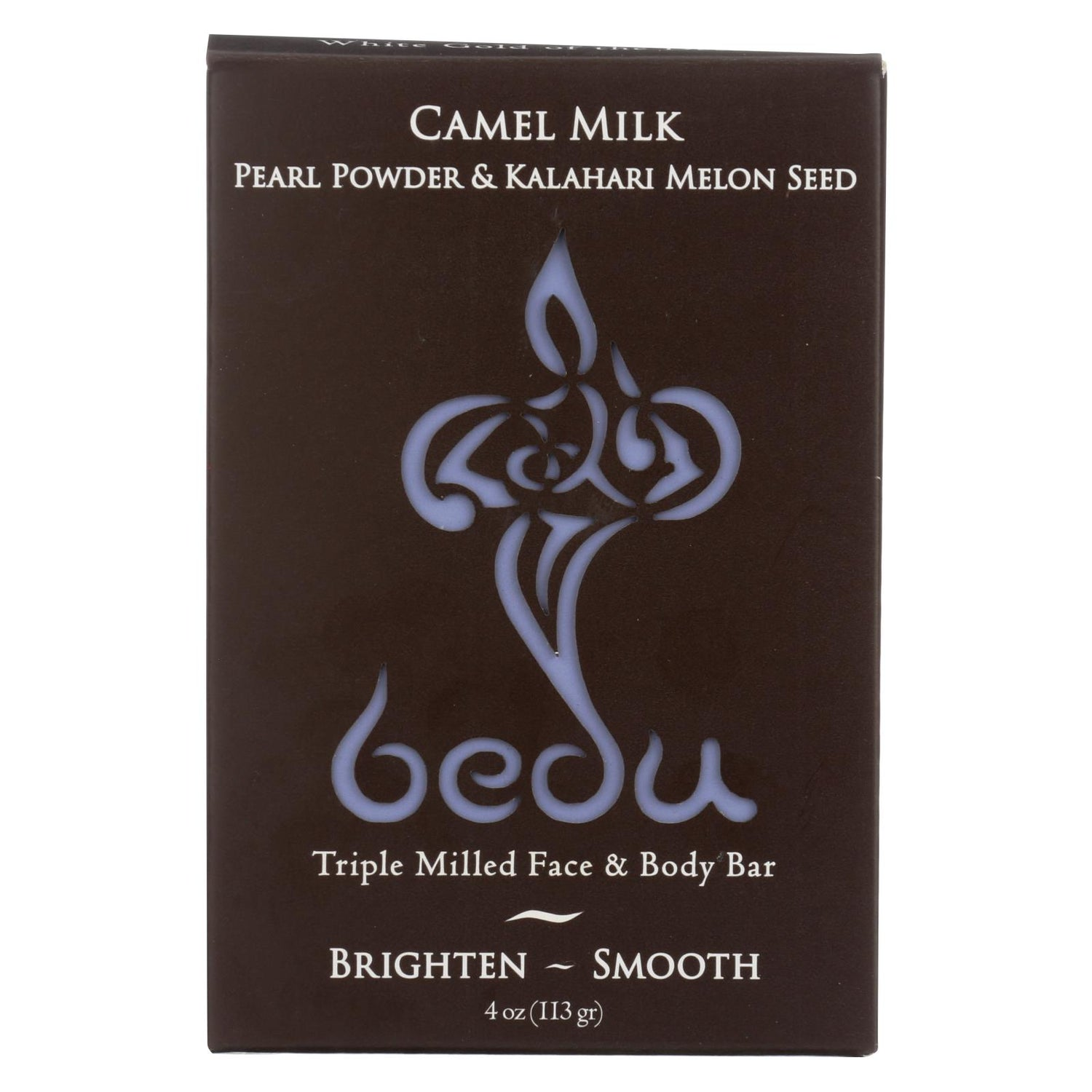 Bedu Face And Body Bar - Pearl Powder And Kalahari Melon Seed - Case Of 6 - 4 Oz.