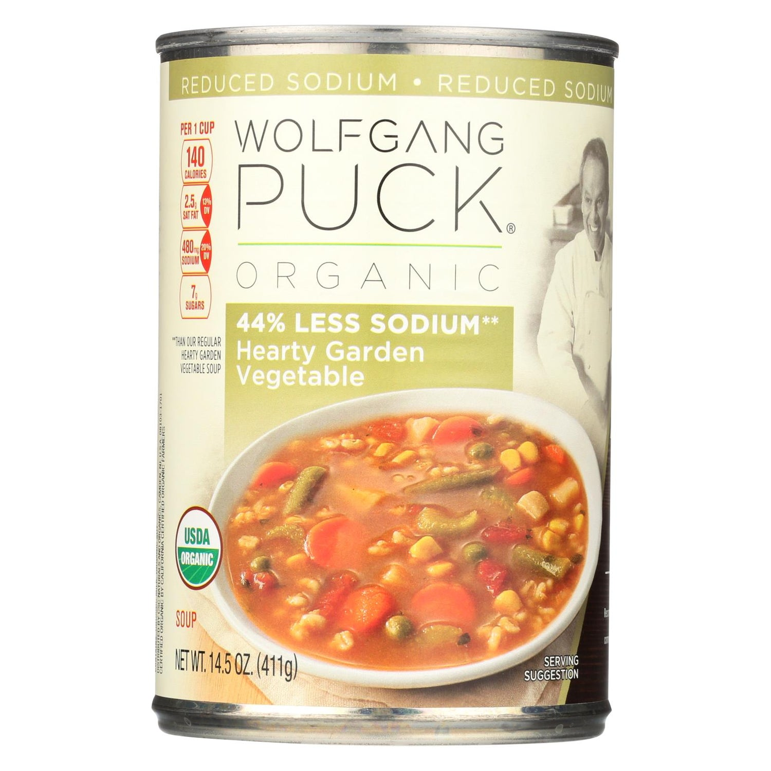 Wolfgang Puck Organic Soup - Reduced Sodium Hearty Garden Vegetable - Case Of 12 - 14.5 Oz