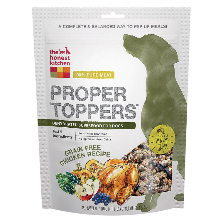 The Honest Kitchen Dog Food - Proper Toppers - Chicken - Case Of 6 - 5.5 Oz