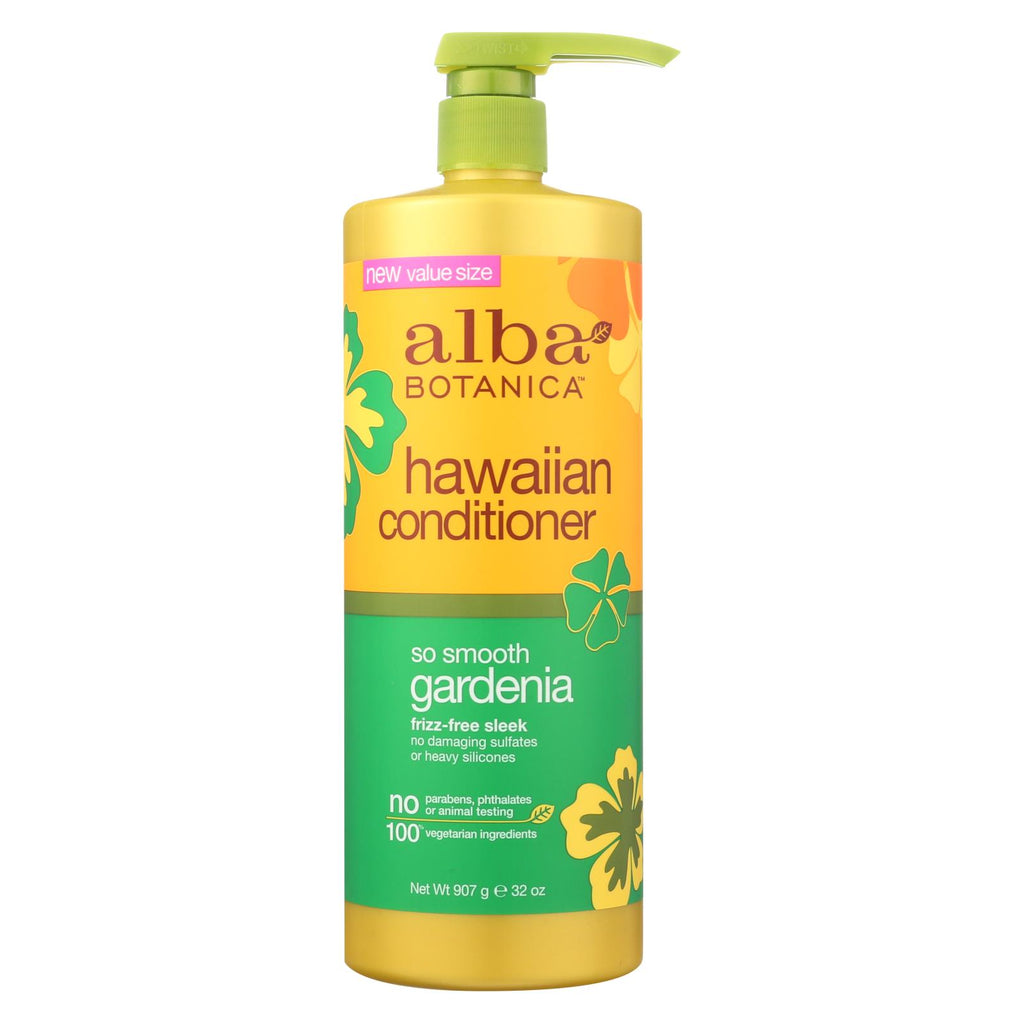 Alba Botanica Hawaiian Conditioner - So Smooth Gardenia - 32 Oz