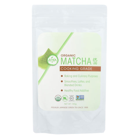 Aiya Tea - Organic Matcha - Cooking Grade - Case Of 6 - 100 G