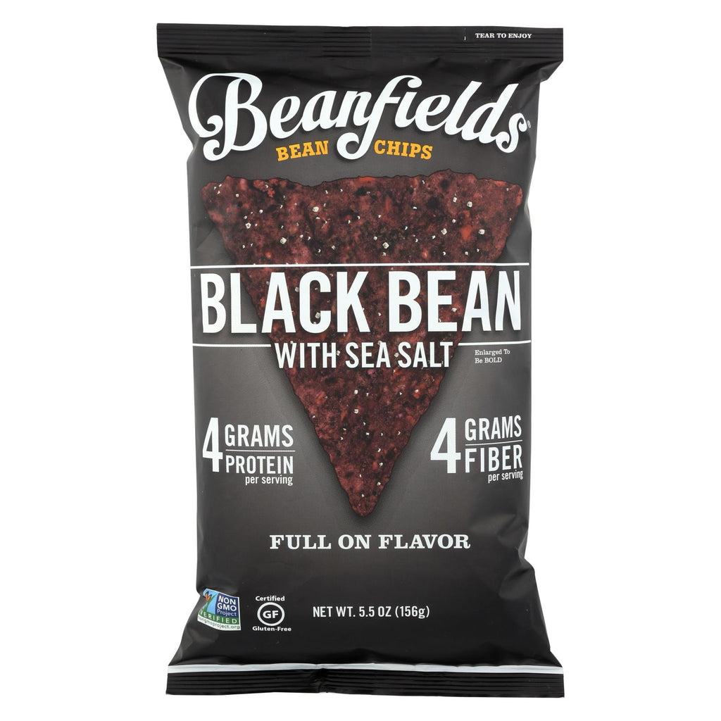 Beanfields Black Bean And Rice Chips -sea Salt - Case Of 6 - 5.5 Oz