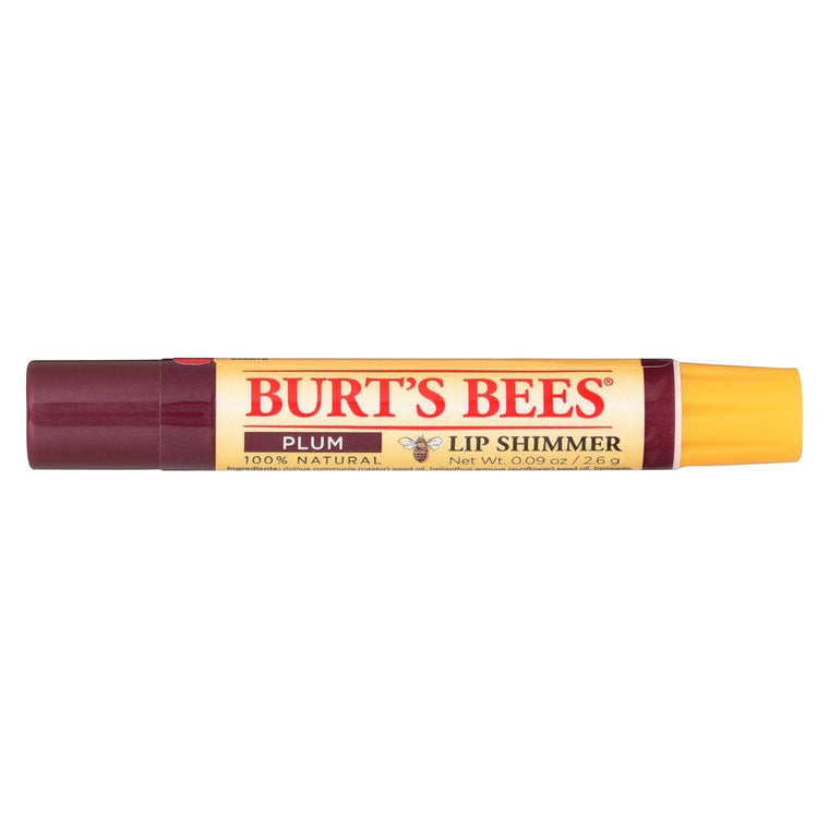 Burts Bees Lip Shimmer - Plum - Case Of 4 - 0.09 Oz
