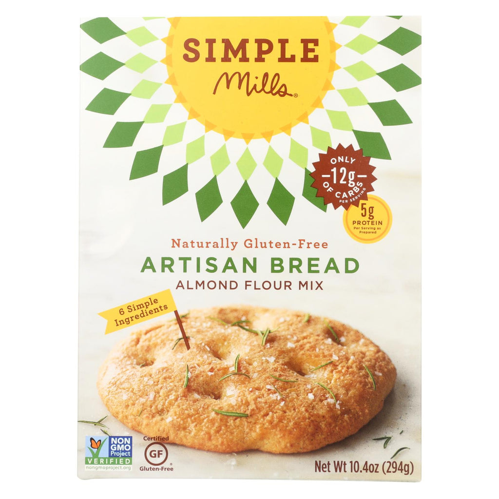 Simple Mills Almond Flour Artisan Bread Mix - Case Of 6 - 9.5 Oz.