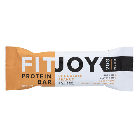 Fitjoy - Protein Bar - Chocolate Peanut Butter - Case Of 12 - 2.11 Oz.