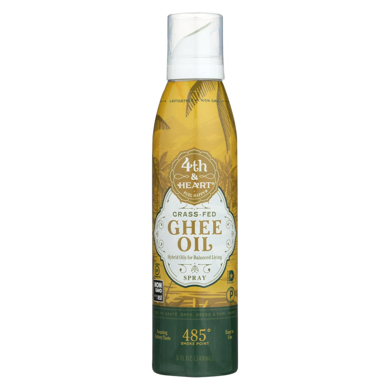 4th And Heart Ghee - Oil - Spray - Case Of 6 - 5 Fl Oz