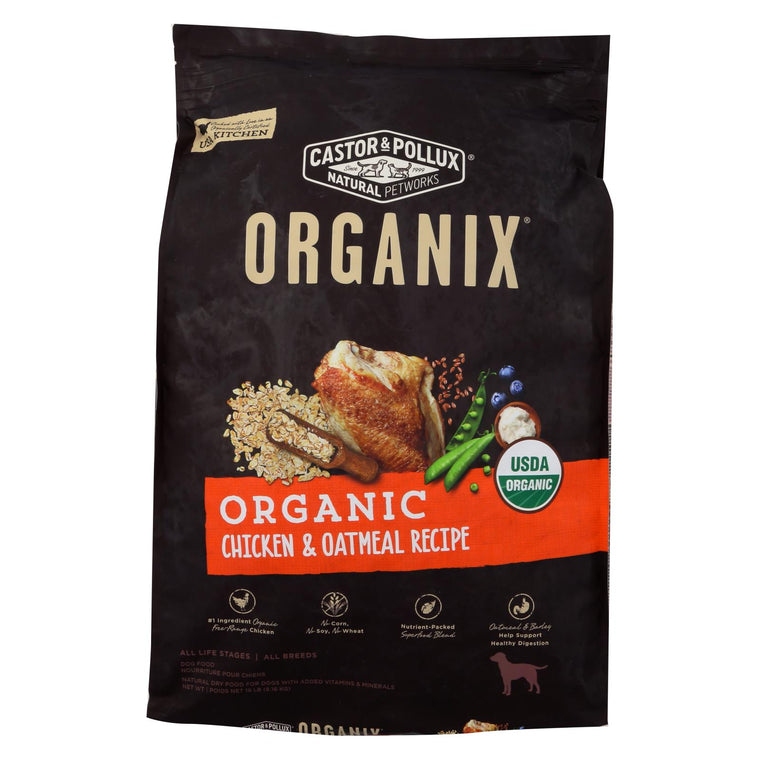 Castor And Pollux - Organix Dry Dog Food - Chicken And Oatmeal Recipe - 18 Lb.