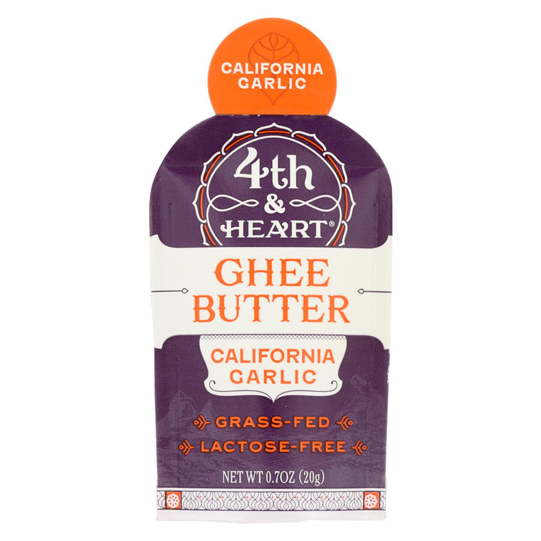 4th And Heart Ghee California Garlic Single - Case Of 5 - .7 Oz