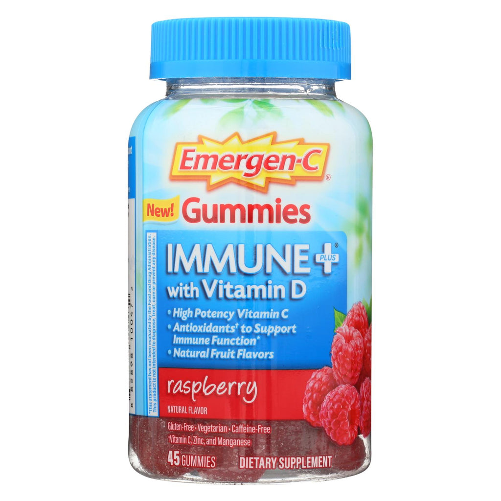 Emergen-c Gummies - Immune - Raspberry - 45 Count