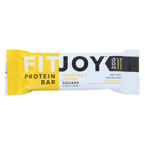 Fitjoy - Protein Bar - Grandma's Lemon Square - Case Of 12 - 2.18 Oz.