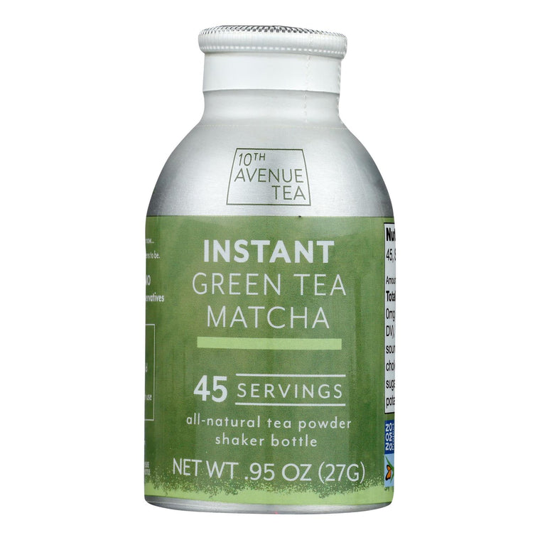 10th Avenue Tea - Tea Green Matcha Instant - Case Of 6-0.95 Oz