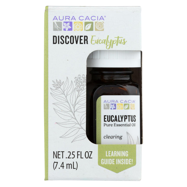 Aura Cacia - Discover Essential Oil - Eucalyptus - Case Of 3-.25 Fl Oz.