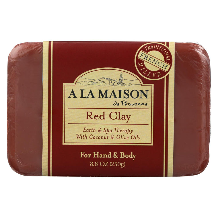 A La Maison Bar Soap - Red Clay - 8.8 Oz