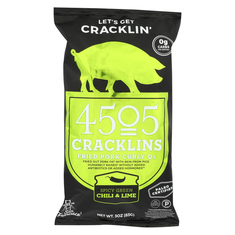 4505 - Cracklins Chili And Lime - Case Of 12-3 Oz
