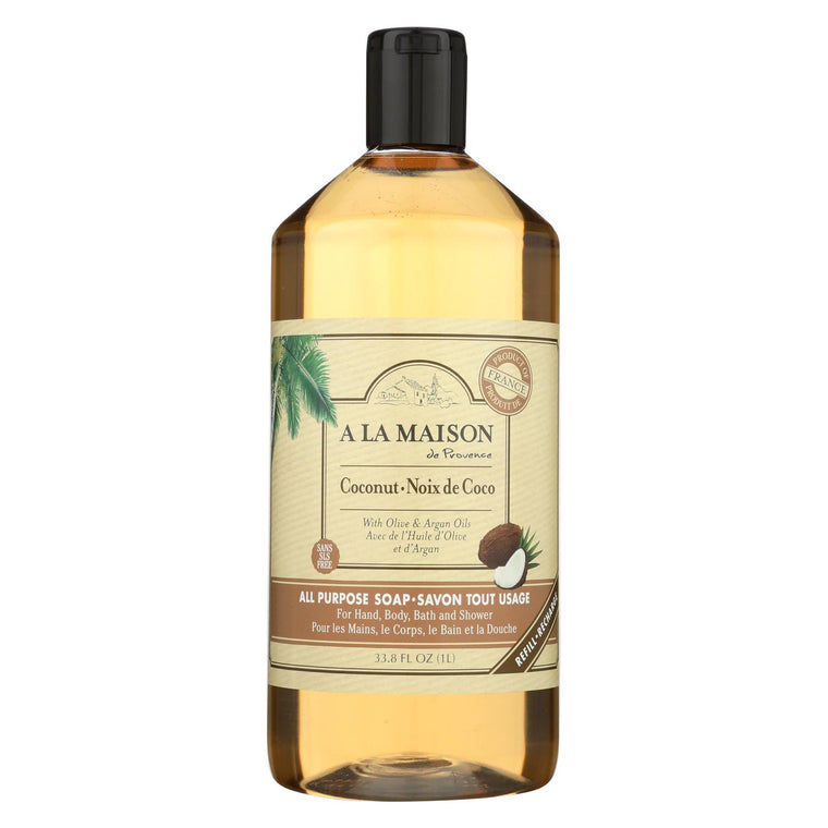 A La Maison Liquid Hand Soap - Coconut - 33.8 Fl Oz.