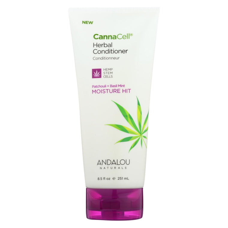Andalou Naturals Conditioner - Patchouli And Basil Mint - Case Of 1 - 8.5 Fl Oz.
