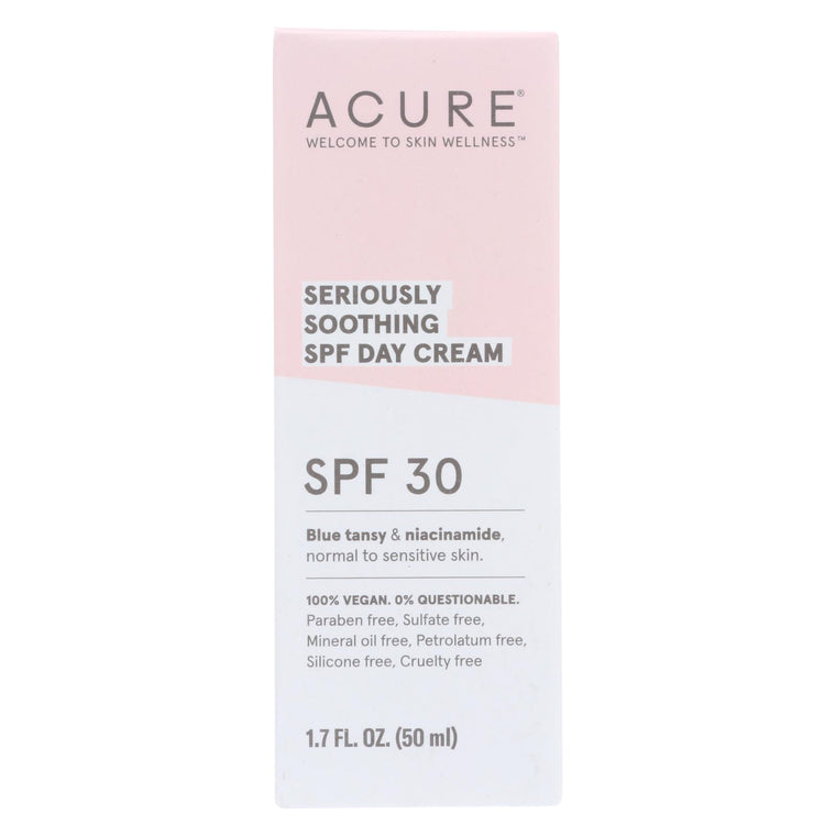 Acure - Spf 30 Day Cream - Seriously Soothing - 1.7 Fl Oz.