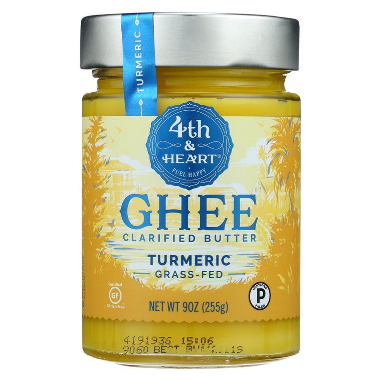 4th & Heart - Ghee - Turmeric Grass Fed - Case Of 6 - 9 Oz.
