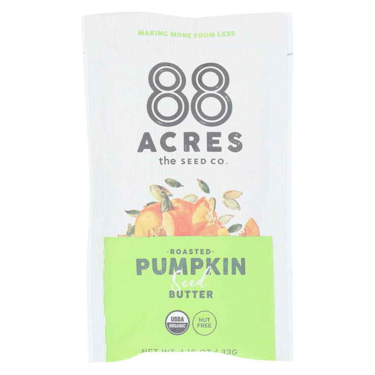 88 Acres - Seed Butter - Organic Pumpkin - Case Of 10 - 1.16 Oz.