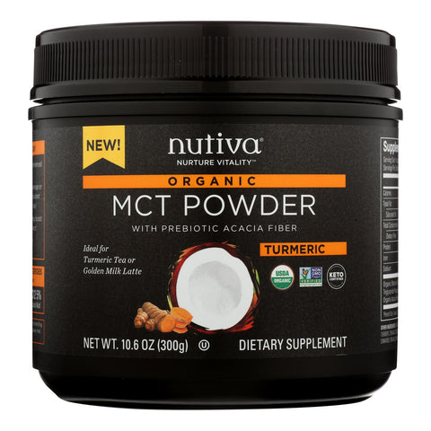 Nutiva - Powder Mct Turmeric - 1 Each - 10.6 Oz