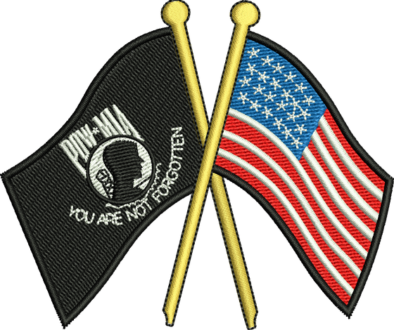 USA & POW Flags