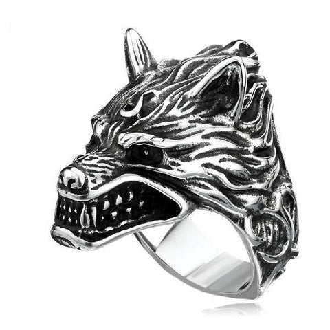 Wolf Head Ring - Exotic Land Imports