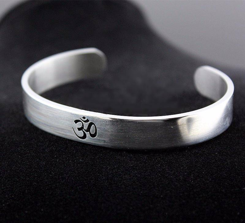 Stainless Steel OM Open Bangle - Exotic Land Imports