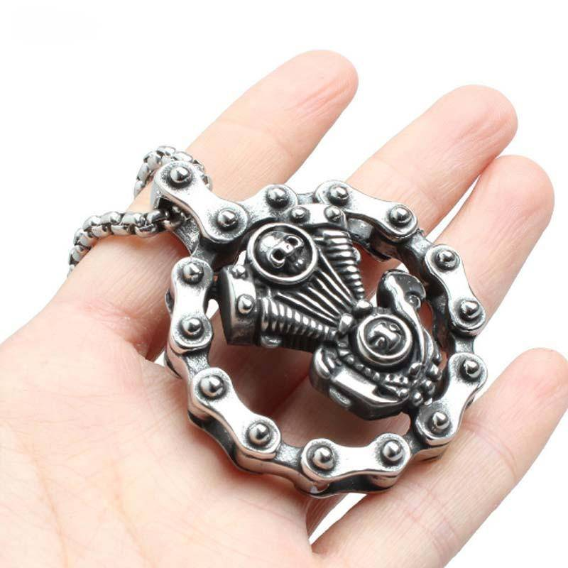 Motorcycle Engine Chain Necklace - Exotic Land Imports