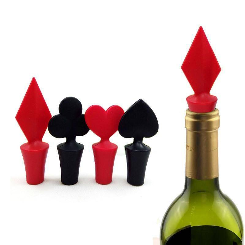 """Playing Card Suits"" Wine Stopper - Exotic Land Imports"