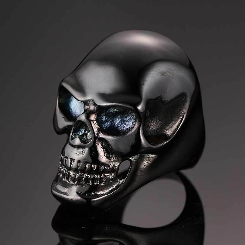 """The Dark Skull"" Stainless Steel Ring - Free Worldwide Shipping - Exotic Land Imports"