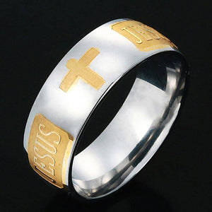 Stainless Steel Jesus Ring