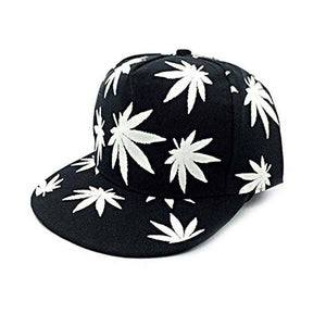 """Glow in the Dark"" Weed Snapback"