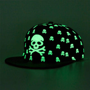 Glow-in-the-Dark Skull Snapback - Exotic Land Imports