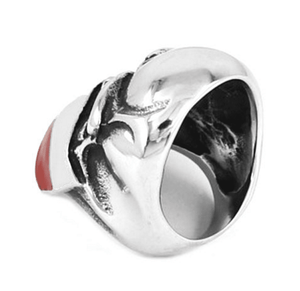 """Skull of Texas"" Stainless Steel Ring - Free Worldwide Shipping - Exotic Land Imports"
