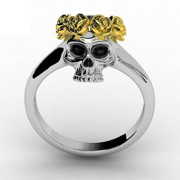 Flower Crown Skull Ring - Free Worldwide Shipping - Exotic Land Imports