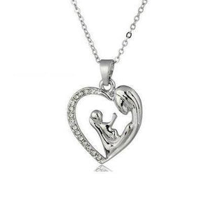 """Mother and Baby"" Heart Necklace"