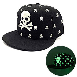 """Glow in the Dark"" Skull Snapback"