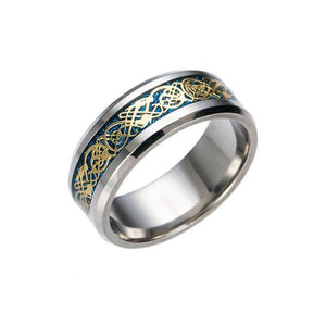 Dragon's Breath Ring - Steel Viking Style - Exotic Land Imports