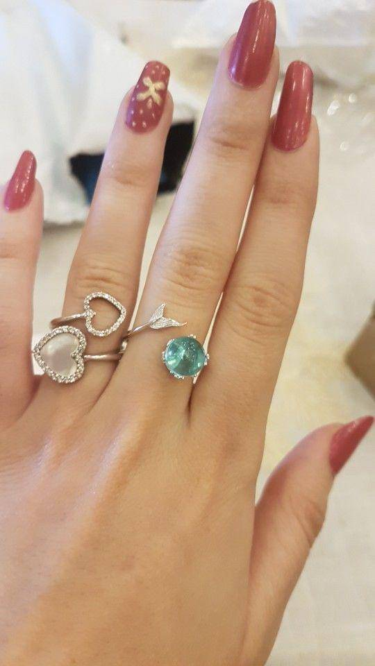 Tiny Piece of the Ocean 925 Sterling Silver Mermaid Ring - Exotic Land Imports