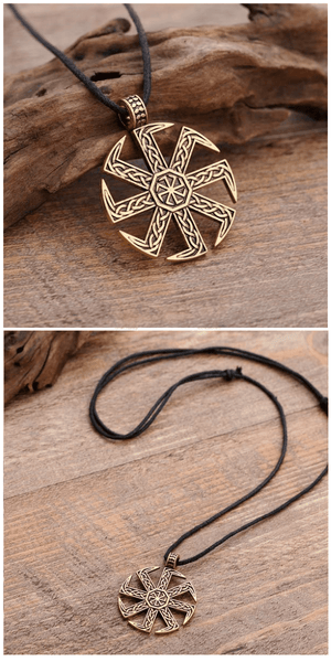Slavic Kolovrat Pendant Necklace For Sale - Free Worldwide Shipping