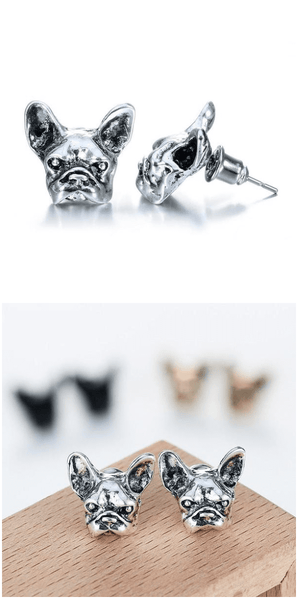 Cute French Bulldog Earrings For Sale - Free Worldwide Shipping