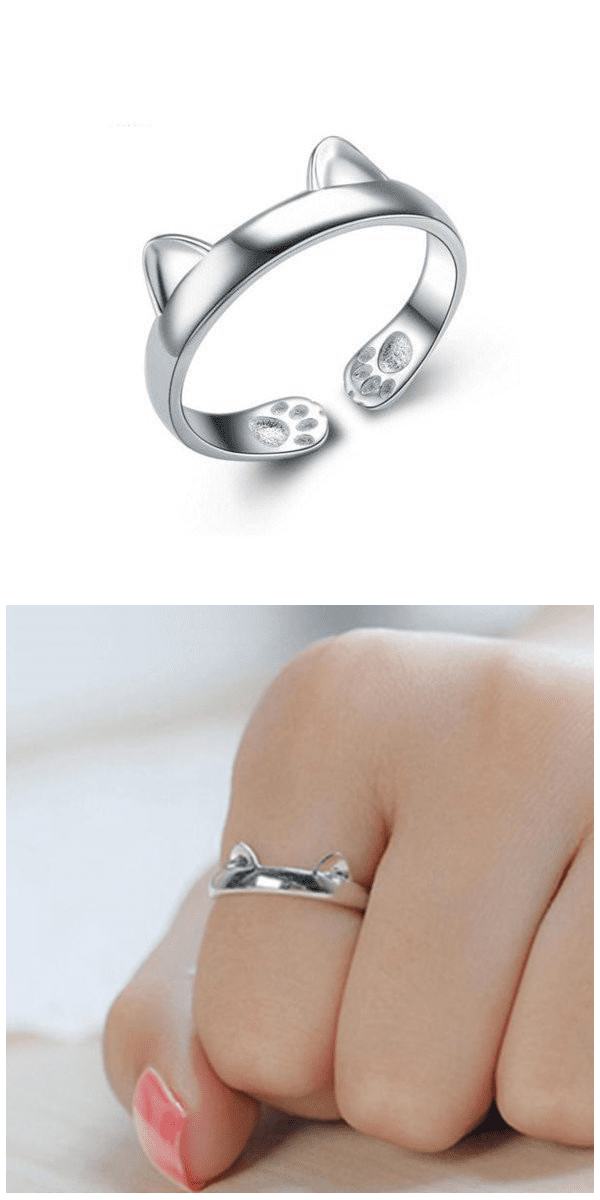 Paws & Ears Kitten Ring For Sale - Free Worldwide Shipping