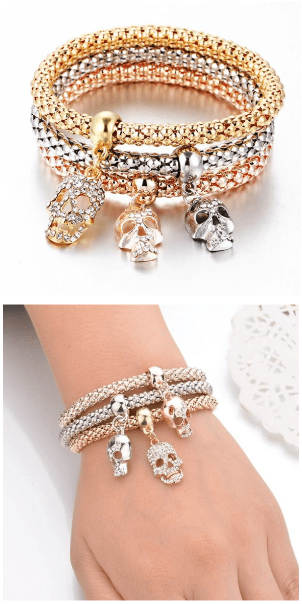 Crystal Skull Bracelet Set - Exotic Land Imports