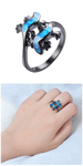 Lizard Couples Blue Opal Ring - Exotic Land Imports