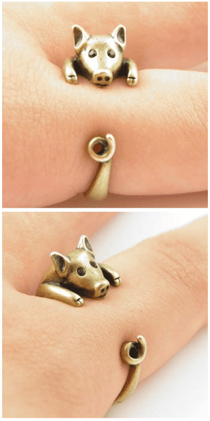 Fully Adjustable Cute Piggy Ring For Sale - Free Worldwide Shipping