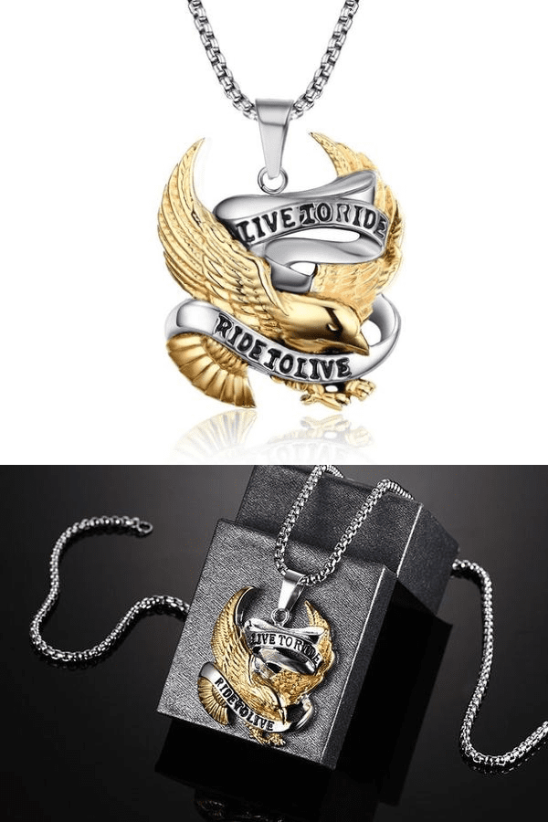 """Live To Ride - Ride To Live"" Necklace - Exotic Land Imports"