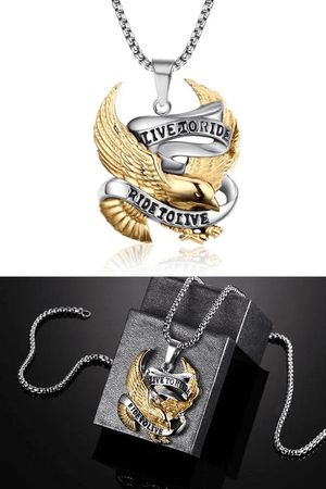 """Live To Ride - Ride To Live"" Necklace For Sale - Free Worldwide Shipping"