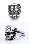 """Laughing Skull"" Stainless Steel Ring - Free Worldwide Shipping - Exotic Land Imports"